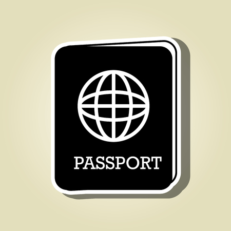 emigration and immigration: passport icon design, vector illustration eps10 graphic