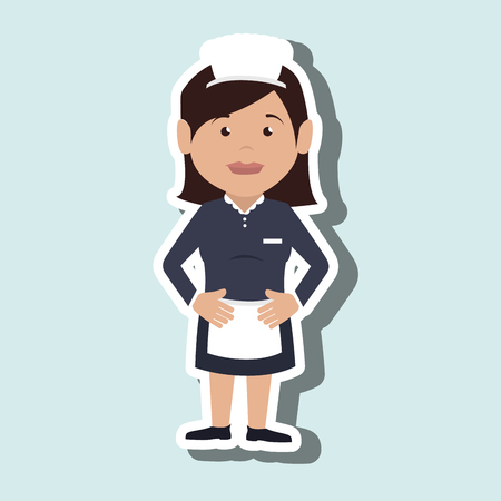 housekeeper: housekeeper woman design, vector illustration eps10 graphic