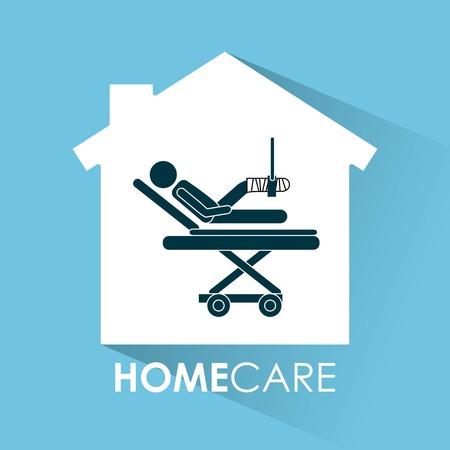 home care: home care  design, vector illustration eps10 graphic Illustration