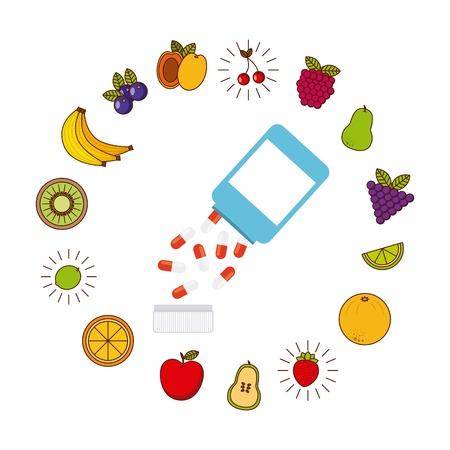 vitamins: vitamins and supplements design, vector illustration eps10 graphic