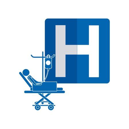 hospitalization: hospital icon design, vector illustration eps10 graphic