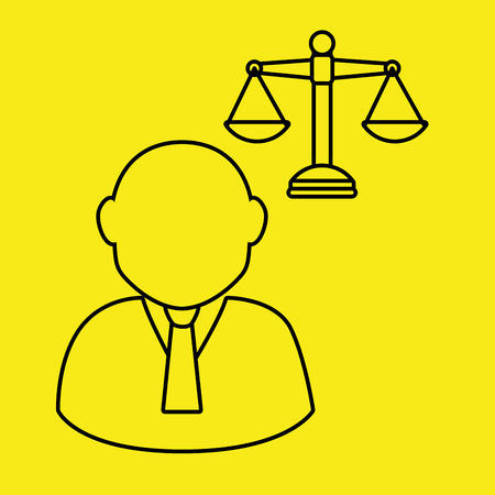 judgments: justice system design, vector illustration eps10 graphic