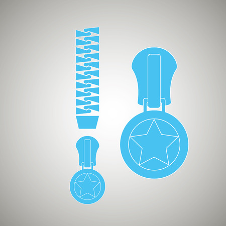 unzip: zipper isolated design, vector illustration eps10 graphic