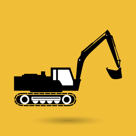 transportation icons: construction machinery design, vector illustration eps10 graphic