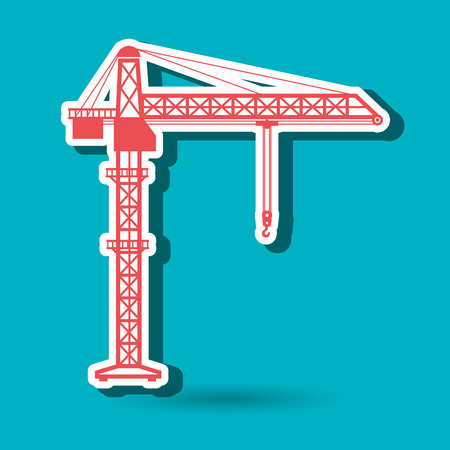 heavy construction: crane service design, vector illustration eps10 graphic