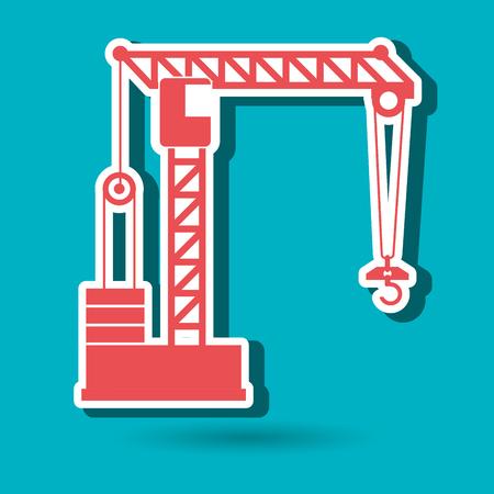 crane service design, vector illustration eps10 graphic