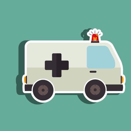 emergencia medica: diseño emergencia médica, ejemplo gráfico del vector eps10 Vectores