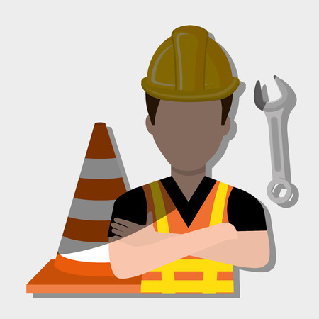 Industrial workers: construction worker design, vector illustration eps10 graphic