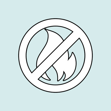 flammable warning: fire flame  design, vector illustration eps10 graphic