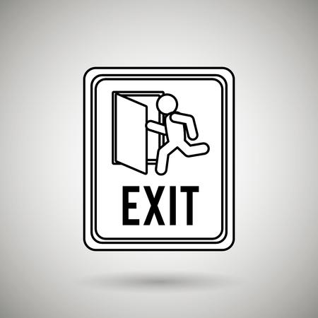 emergency exit: emergency exit design, vector illustration eps10 graphic Illustration