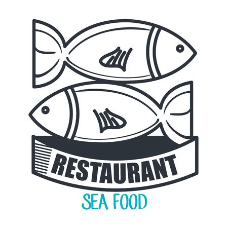 fish type: menu restaurant design, vector illustration eps10 graphic Illustration