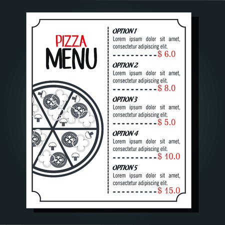 pices: menu restaurant design, vector illustration eps10 graphic Illustration