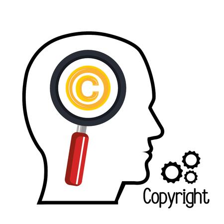copyright symbol: copyright symbol design Illustration