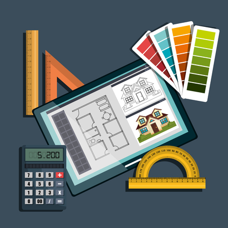pallette: architectural work design, vector illustration eps10 graphic