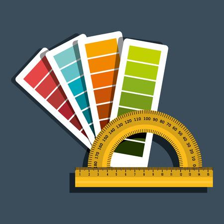 pallette: conception de travaux d'architecture, vecteur illustration graphique eps10 Illustration