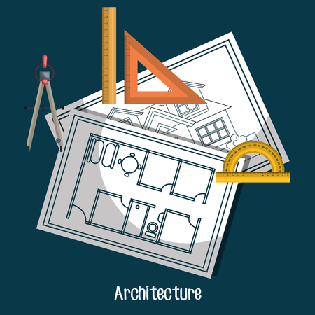 architectural styles: architectural work design, vector illustration eps10 graphic