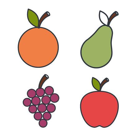 food: organic food design, Illustration