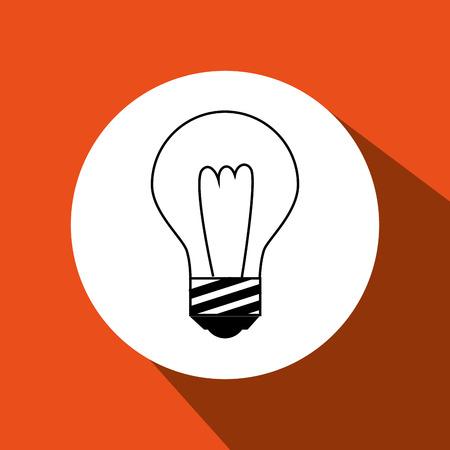 bulb light  design, vector illustration eps10 graphic Illustration