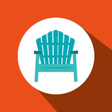 deck chair isolated: chair icon design, vector illustration eps10 graphic Illustration