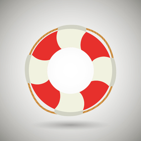 life bouy: float isolated design, vector illustration eps10 graphic Illustration