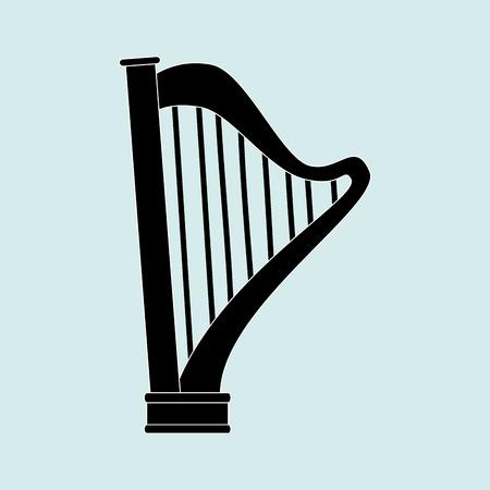 lyra: harp isolated design, vector illustration eps10 graphic