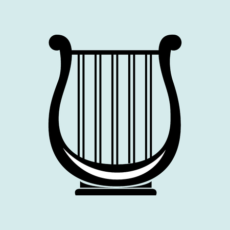 lyra: harp isolated design, vector illustration eps10 graphic