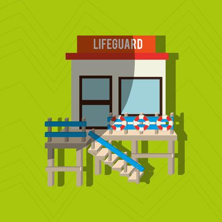 lifeguard: lifeguard tower design Illustration