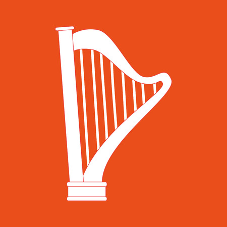 lyra: harp isolated design Illustration