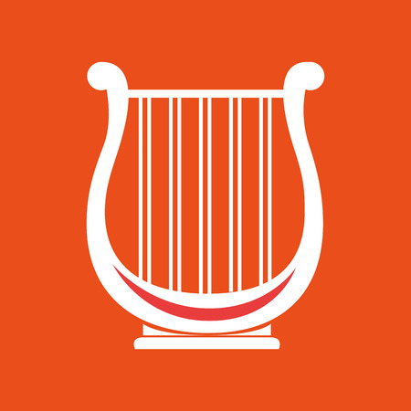 philharmonic: harp isolated design Illustration