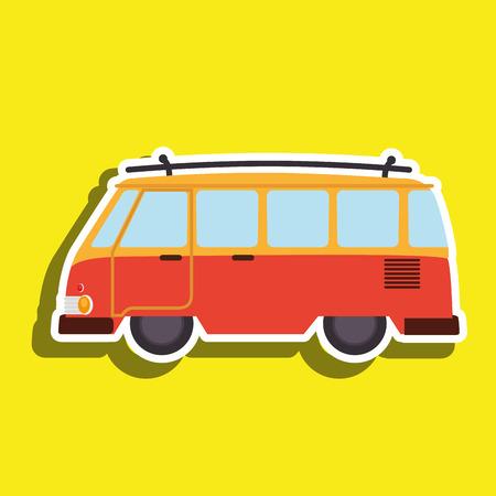 omnibus: van tourist design Illustration