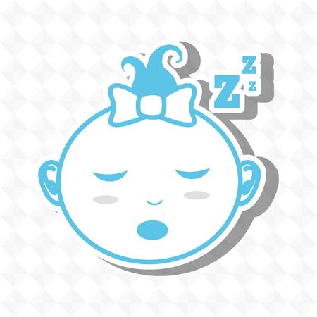 zzz: sleeping concept design Illustration