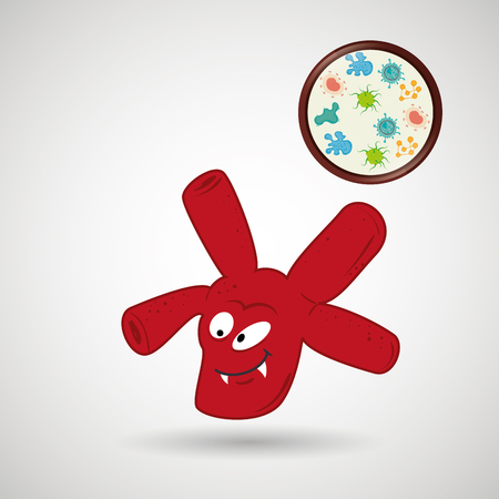 bacteriology: bacteriology concept design, vector illustration eps10 graphic Illustration