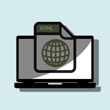 file format: file format design, vector illustration