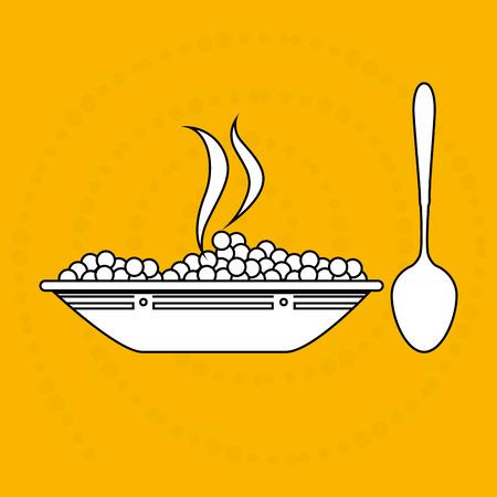cooking time: food preparation instructions design, vector illustration eps10 graphic Illustration