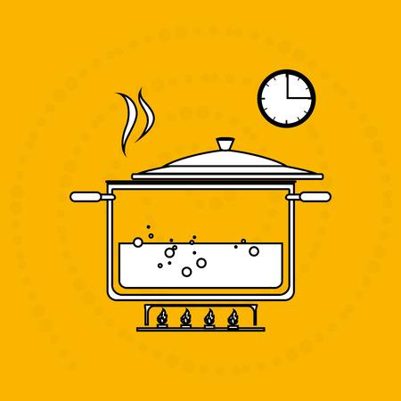 instrucciones: alimentos instrucciones de preparaci�n de dise�o, ilustraci�n vectorial