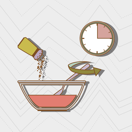 home products: food preparation instructions design, vector illustration eps10 graphic Illustration