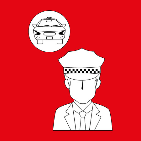 car driver: taxi service design, vector illustration eps10 graphic