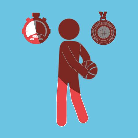 balon baloncesto: basketball game design, vector illustration eps10 graphic
