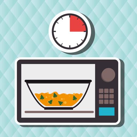 food preparation instructions design, vector illustration eps10 graphic Çizim