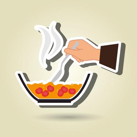 instrucciones: alimentos instrucciones de preparaci�n de dise�o, ejemplo gr�fico del vector eps10 Vectores