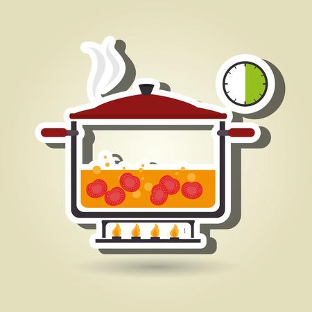 preparing: food preparation instructions design, vector illustration eps10 graphic Illustration
