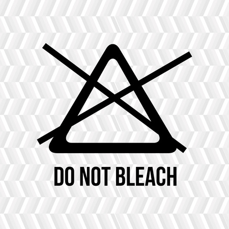 bleach: clothing care instructions design, vector illustration eps10 graphic