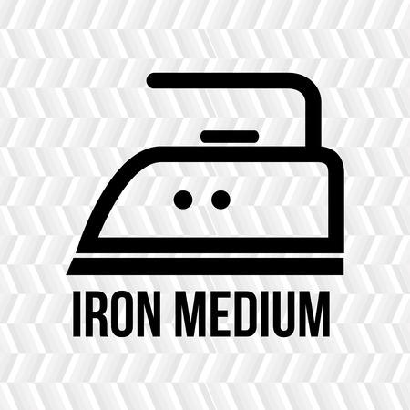 medium: clothing care instructions design, vector illustration eps10 graphic