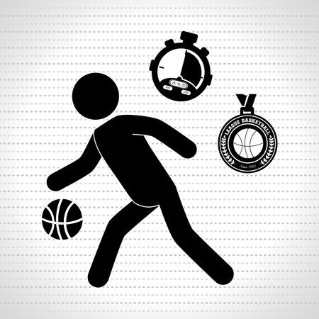balon baloncesto: dise�o de juegos de baloncesto, ejemplo gr�fico del vector eps10