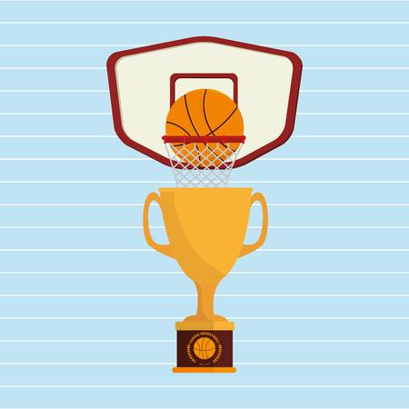 balon baloncesto: diseño de juegos de baloncesto, ejemplo gráfico del vector eps10