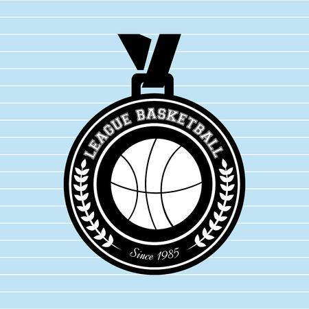 balon de basketball: diseño de juegos de baloncesto, ejemplo gráfico del vector eps10