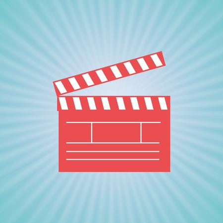 film industry: film industry flat icon  design, vector illustration eps10 graphic Illustration
