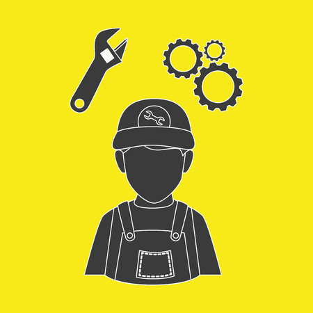 construction: professional construction design, vector illustration