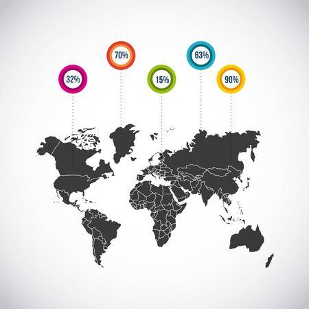 infogaphics: world map design, vector illustration eps10 graphic Illustration