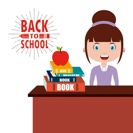 back to school design, vector illustration eps10 graphic
